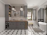 Provence fürdőszoba