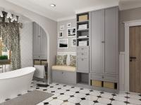 Elegáns fürdőszoba Provence stílusban.